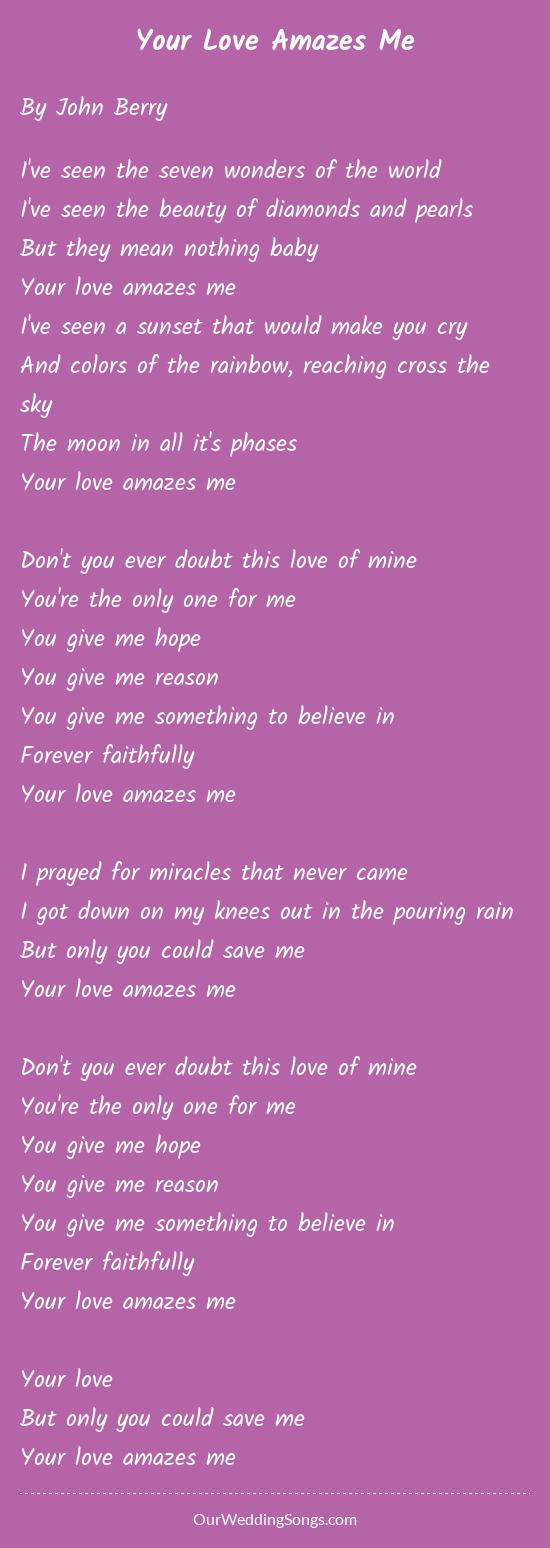 Your love amazes me lyrics